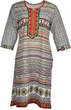 Artisan Women's Cotton Straight Kurta (C...