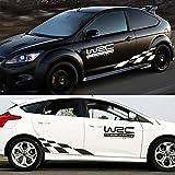 mark8shop un Lot de WRC RACING et design treillis Word Sticker Autocollant Voiture Style Rallye Corps