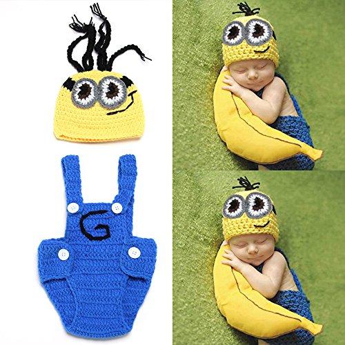 dung Crochet Knit Kostüm Fotografie Prop Outfits Baby Cartoon Lovely Tücher ()