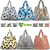 Reusable Shopping Bags - Eco-Friendly Foldable Grocery Bags for Shopping Organizing (6 Pack)