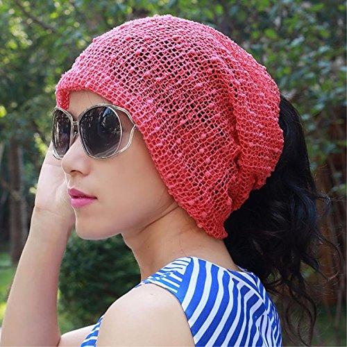 XINQING-MZ Multifunktionaler schal Kappe, Staubkappe Baotou Mütze glatze Chemotherapie Kappe auch Kappen mit der Kappe von schwangeren Frauen dünne, flexible, Rosa eingestellt