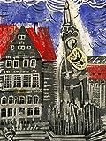 Roland von Bremen - Linolschnitt, von Hand einzeln gedruckt, etwa 15x20cm, Limitiert auf 10 Stück,...