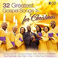 32 Greatest Gospel Songs for Christmas: Go Down Moses; Go Tell It On The Mountain; Amen; Old Time Religion; Jesus Love Me; Amazing Grace; Joy To The World; When The Saints Go Marchin In; Oh How I Love Jesus; Oh Happy Day; Silent Night