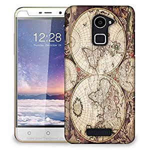 Snoogg World Map Designer Protective Back Case Cover For COOLPAD NOTE 3 LITE