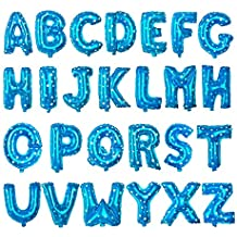 Wakerda - Globos de Aluminio, 26 Unidades, diseño de Letras inglesas de Colores sólidos