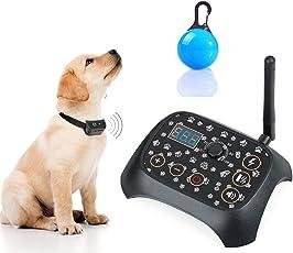 TZLong Unisex Adult 2018 Unsichtbares Zaunsystem/Pet Containment Kit/Ferngesteuerter wiederaufladbarer Transmitter/intelligentes 2-in-1 Hunde Training mit DREI Funktionen