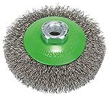 BOSCH Kegelbürste, gewellter Draht, rostfrei, 0,35 mm, 100 mm, 12500 U/min, M 14, 2608622108