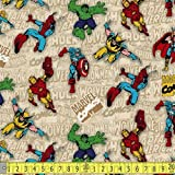 Camelot Marvel Immortals Superimposed Figures Sewing Fabric