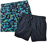 lupilu® 2 Kinder Jungen Bermudas Shorts (Navy/Deep Blue Sea-Print, Gr. 86/92 - ca. 12-24 Monate)