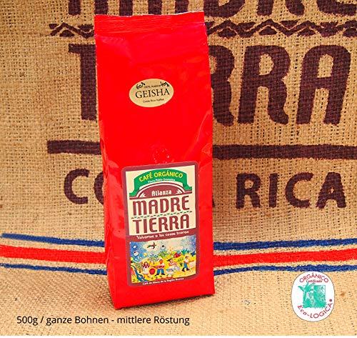 Costa Rica Kaffee Geisha Arabica Mix Farm Madre Tierra