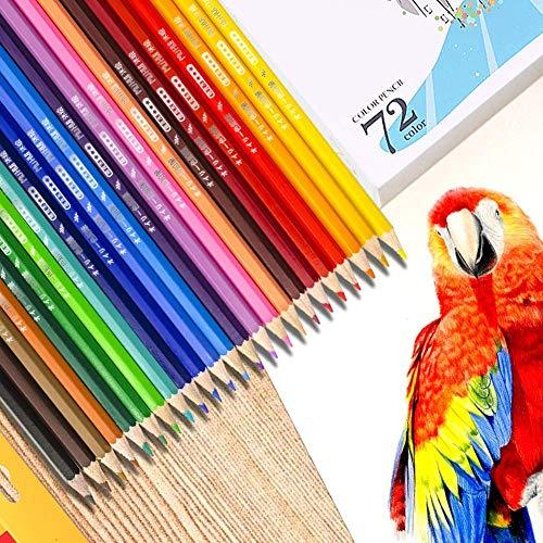 TOPERSUN 72 einzigartige Farben Aquarell Buntstifte Set Aquarellstifte Farbstifte mit für Künstler Erwachsene und Kinder