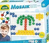 Lena 35604 - Bastelset Steck - Mosaik Set Color mit 72 Steckern 15 mm und Steckplatte 21 x 16 cm