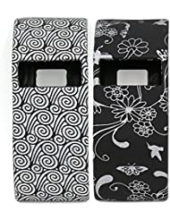 Woodln Silicona Los Muñequera Case Band Cover para Fitbit Charge/Fitbit Charge HR (Black Cloud/Black Grass)