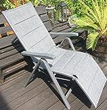 Garden Feelings Relaxsessel Aluminium Alu-Relaxsessel 7-fach verstellbar (Grau)