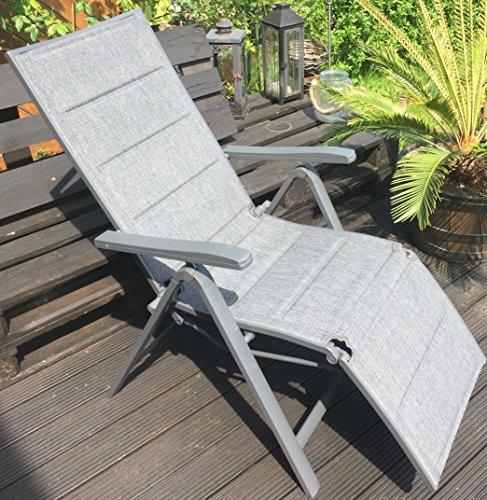Relaxsessel Aluminium Alu-Relaxsessel 7-fach verstellbar (Grau)