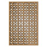 NISH! 'Deco Panel' Collection | Can be used as Room Partitions, Screens, Dividers, Jali, Wall Art, Hanging, Décor, Doors (MDF Wood - 12mm thick, 4ft x 6ft, Natural Color, 1 Piece) for Living Room, Drawing Room, Kitchen Cabinet, Cupboards, Furniture