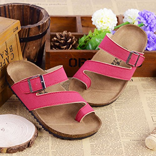 Une Série de Couleurs Chaussures - Enfants Unisexes Tongs Sandales Rouge