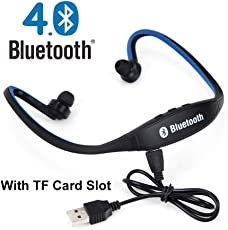 Piqancy BS19C Wireless Bluetooth Headphones with FM Inbuilt Mic Sports Stereo Earphone (Assorted)