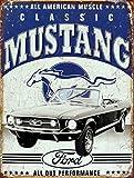 Métal Vintage Rétro Shabby Chic Plaque de Ford Mustang Plaque murale (Chaudières)