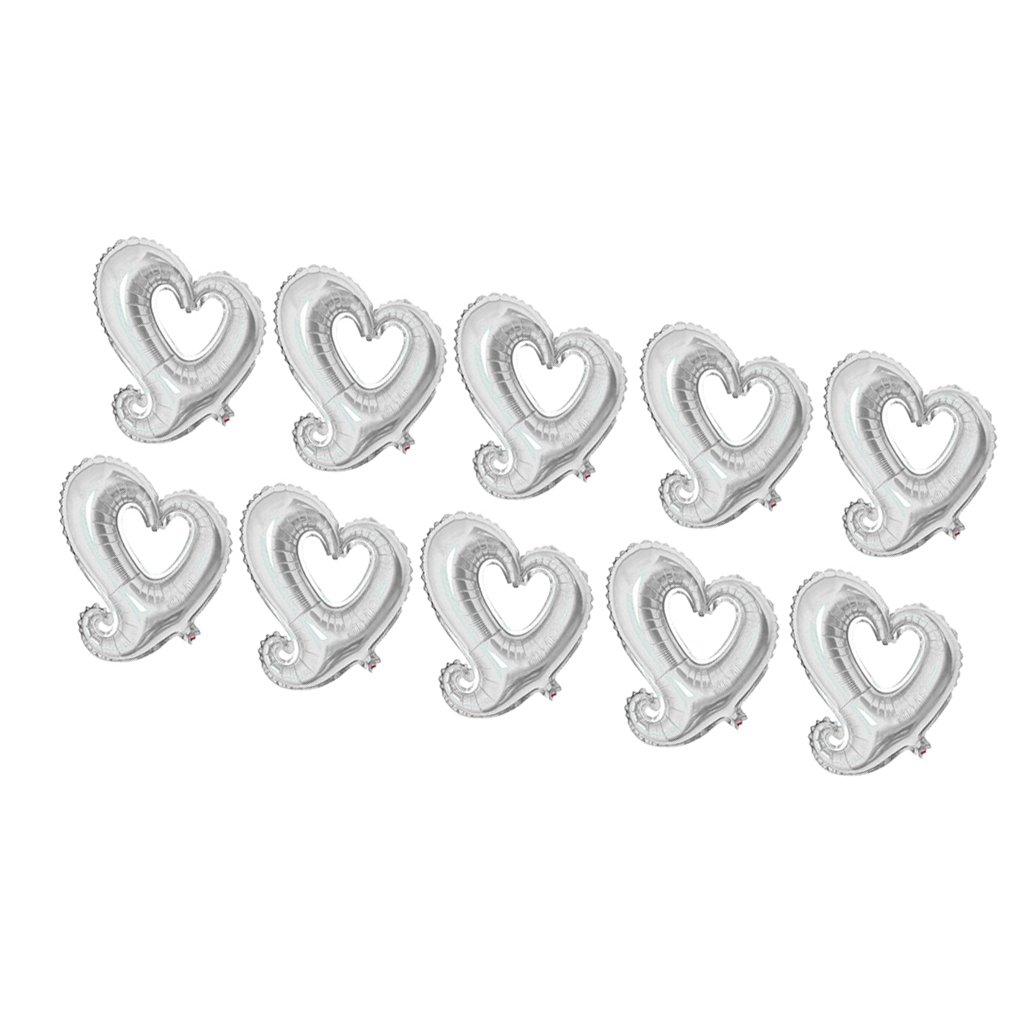 MagiDeal 10 Pz Amore Cuori Stagnola Palloncini Anniversario Di Matrimonio San Valentino 18  - scheg