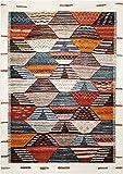 wecon home Modern Berber Moderner Markenteppich, Polypropylen, Mehrfarbig, 225 x 160 x 1.3 cm