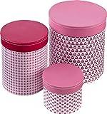 Kids concept Pappboxen 3er-Set rosa