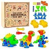 aGreatLife Jeu de Construction de 3 Dinosaures Take Apart   Jeu pour Enfants   Cadeau Anniversaire