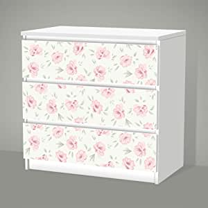 Posterdeluxe stickers pour ikea malm 3 tiroirs shabby Stickers ikea meuble
