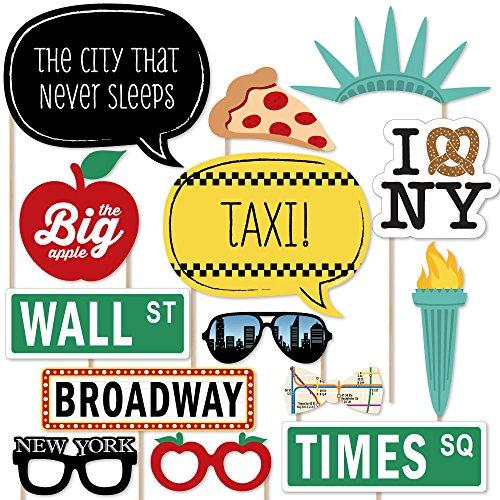 New York– Requisiten-Set für Fotoautomaten –20-teilig