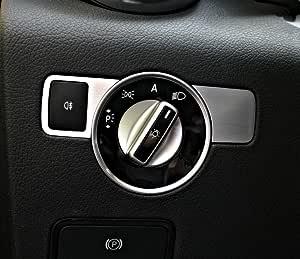 2 Tlg Zierblende Für Lichtschalter Mercedes Slk 172 Aus Aluminium R172 Fl 280 200 350 Amg55 Amg45 Baumarkt