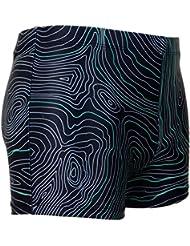 GUGGEN Mountain Men's Swimming Trunks Boxers Swim Shorts Tight Brief Swim Shorts Bathing Drawers Bathers Slip Striped *High Quality Print*