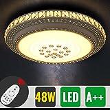 HG® 48W LED Deckenlampe Dimmbar Rund kristall deckenleuchte 320-4320LM Wohnzimmer 180V-265V