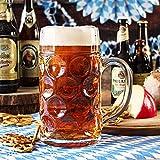 from Stoelzle German Beer Stein Glass 2 Pint | Classic Beer Tankards, Beer Mugs, Beer Steins | 2 Pint Glass Beer Tankards