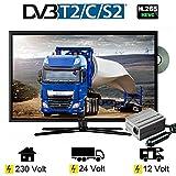 Reflexion LDDW 227 LED TV Fernseher 22 Zoll 56cm Sat DVB-S2/C/T2 DVD 12 V 24 V 230 Volt