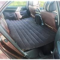 Car Back Seat Inflatable Air Mattress Travel air Bed for Car with Two Air Pillows,Dc Air Pump and Repair Patch Kit (Black)