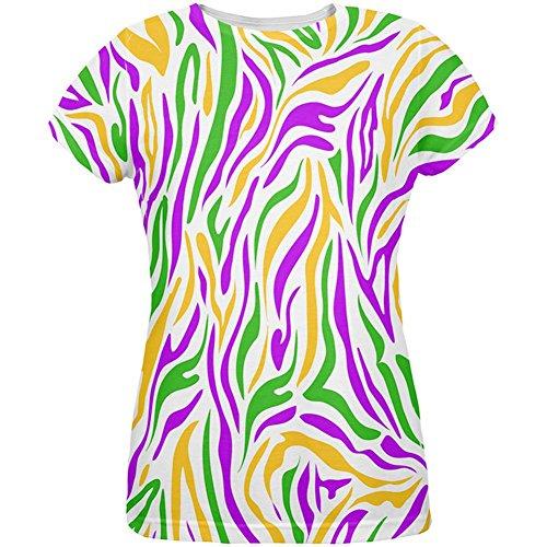 Zebra Streifen Kostüm Alle über Womens T-Shirt Multi SM (Mardi Gras Kostüm Frauen)