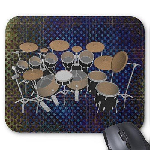 black-10-piece-drum-set-black-mouse-pad-drums-kit-mouse-pad-220mm180mm3mm