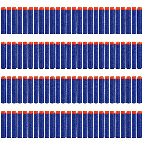 StillCool 100pcs 7.2cm Refill Foam Bullet Darts for Nerf N-strike Elite Series Blasters Kid Toy Gun(blue)