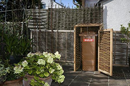 Mülltonnenverkleidung WEIDENPROFI aus Holz mit Weidengeflecht für eine Mülltonne bis 240 Liter - 3