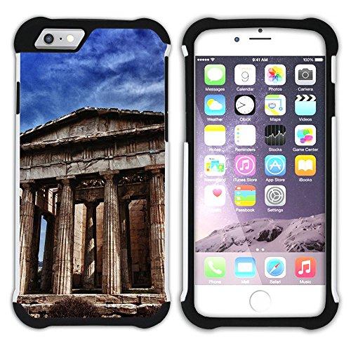 Graphic4You Athen Griechenland Postkarte Aussicht Hart + Weiche Kratzfeste Hülle Case Schale Tasche Schutzhülle für Apple iPhone 6 Plus / 6S Plus Design #4