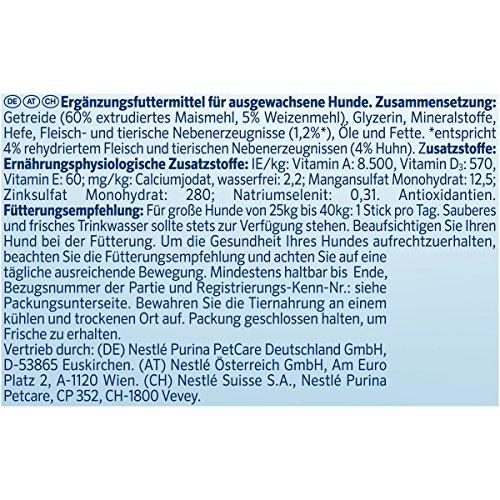 Purina DentaLife Maxi Tägliche Zahnpflege-Snacks für große Hunde, 5er Pack (5 x 142 g) - 5