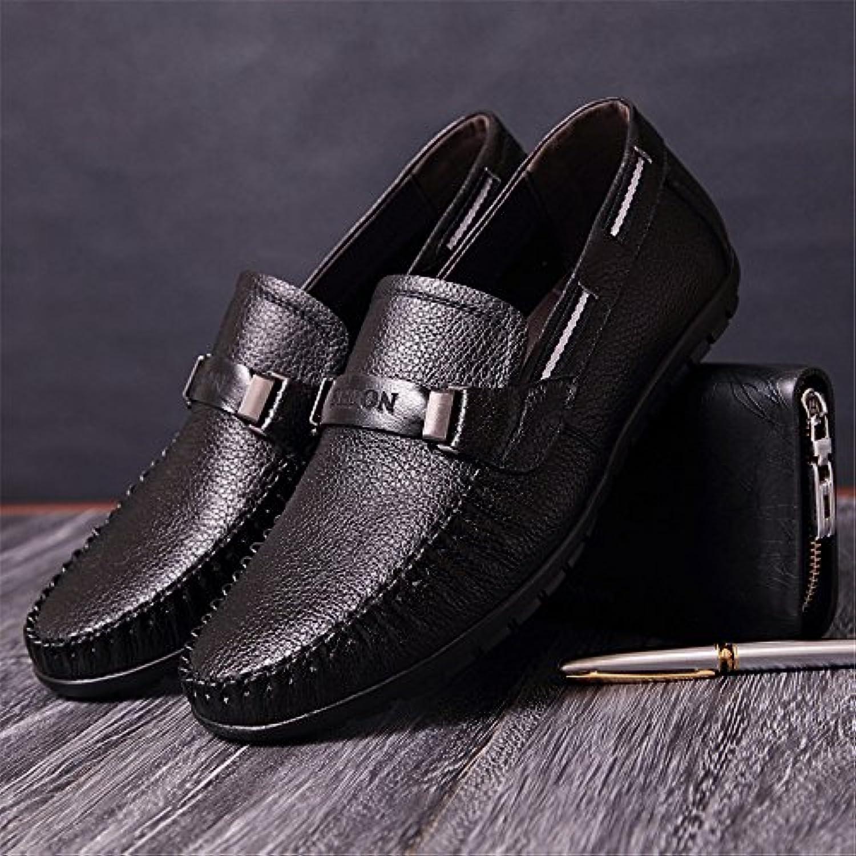 Gli uomini sono casualmente scarpe di pelle, cuoio uomini 'bean scarpe casual scarpe sportive,nero,trentotto | Consegna Immediata  | Uomini/Donna Scarpa