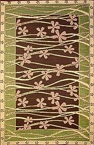 Mad Fussmatten Tall Grass Indoor/Outdoor-Fußmatte, 4 x 6 cm, braun/rosa