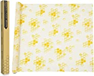 Beeswax Wraps, Womdee 1 Meter Reusable Food Wraps Roll | Organic Cotton Bees Wax Wraps | Natural Alternative to Plastics | Wa