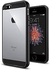 SPIGEN iPhone 5S/5/SE Case Bumper [Ultra Hybrid] [Black] (SGP10515)