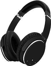 Kopfhörer Bluetooth Kabellos Noise Cancelling- Srhythm NC25- Over Ear Kopfhoerer mit Mikrofon Aktiver Geräuschunterdrückung 190g Ultraleicht Faltbar Hi-Fi Stereo mit Flugzeugstecker