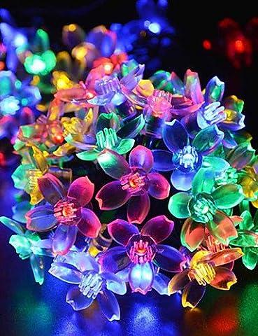 DXZMBDM® noël ampoule de cerisier oriental conduit décoration extérieure solaire partout dans l'étoile du ciel de lampes 4.8m 20LED , multi color