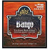 GHS PF160 Jeu de 5 Cordes pour Banjo Medium