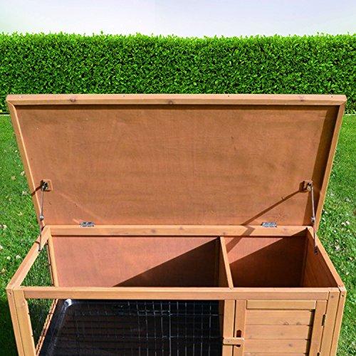 Zooprimus Kaninchenstall 05 Hasenkäfig – HOPPEL – Stall für Außenbereich (für Kleintiere: Hasen, Kaninchen, Meerschweinchen usw.) - 4