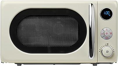 MEDION MD 18028 Mikrowelle / 800 Watt/Grillfunktion 1.000 Watt / 20 L Garraum / 8 Automatikprogramme/LED-Display/stilvolles Retro-Design/creme